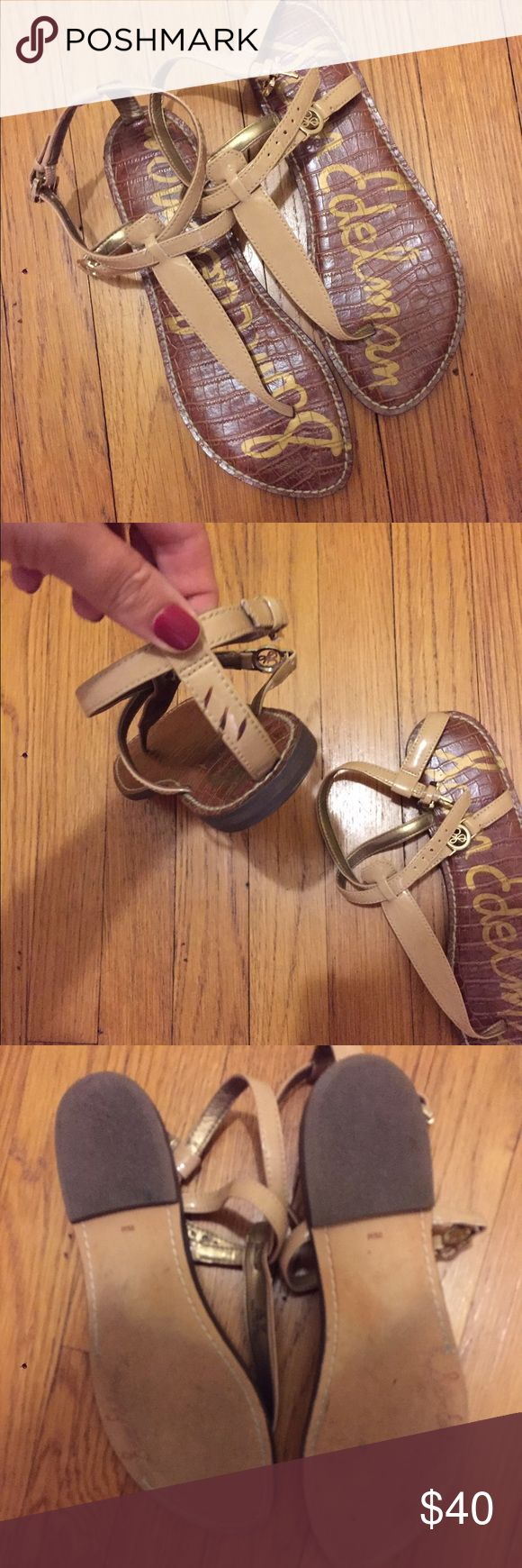 Sam Edelman Galia Sandals -- Like Sam Edelman Gigi Size 9.5, worn three times. Great shape, small scuff on back. Bought in spring 2016 at Bloomingdale's. Sam Edelman Shoes Sandals