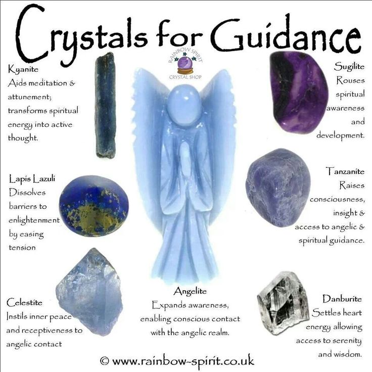 Crystals for Guidiance: Kyanite Sugilite Tanzanite Lapis Lazuli Celestite Angelite Danburite Tanzanite