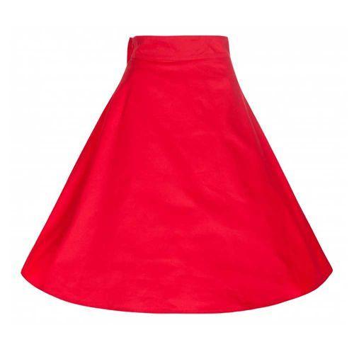 Noreen wijde rok met strik rood - Vintage, 50's, Rockabilly