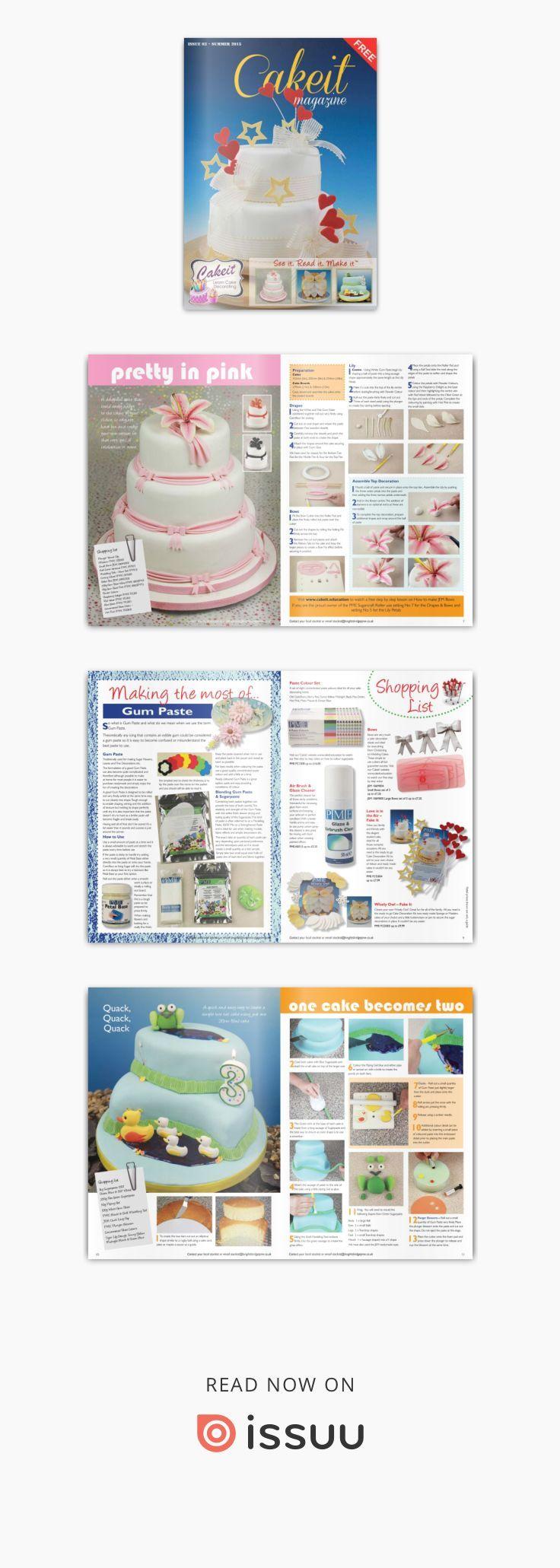 Cakeit 03 - Revista Cake Design Gratuita  A Cakeit magazine é uma revista gratuita da Pme , da qual a Pasgelpan é distribuidor em Portugal. Encontra os produtos em www.pasgelpan.com
