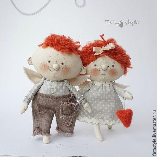 Сказочные персонажи ручной работы. Ярмарка Мастеров - ручная работа. Купить Два Рыжих Ангела  Куклы текстильные. Handmade. Ангел