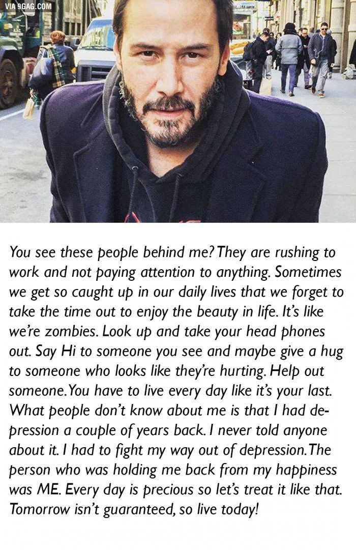 This is why I like Keanu Reeves. - 9GAG