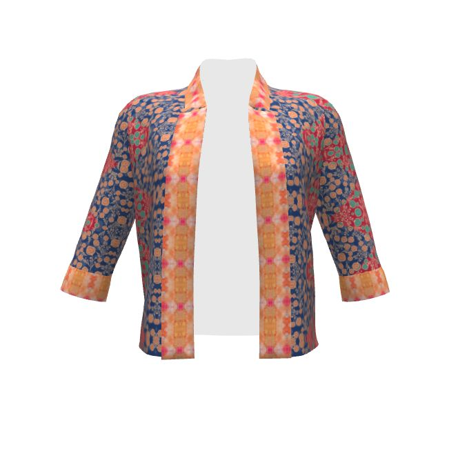 By Hand London Victoria Blazer made with Spoonflower designs on Sprout Patterns. This design is a product of the SAGE Group.  Fabric prints by floramoon_designs and shi_designs.