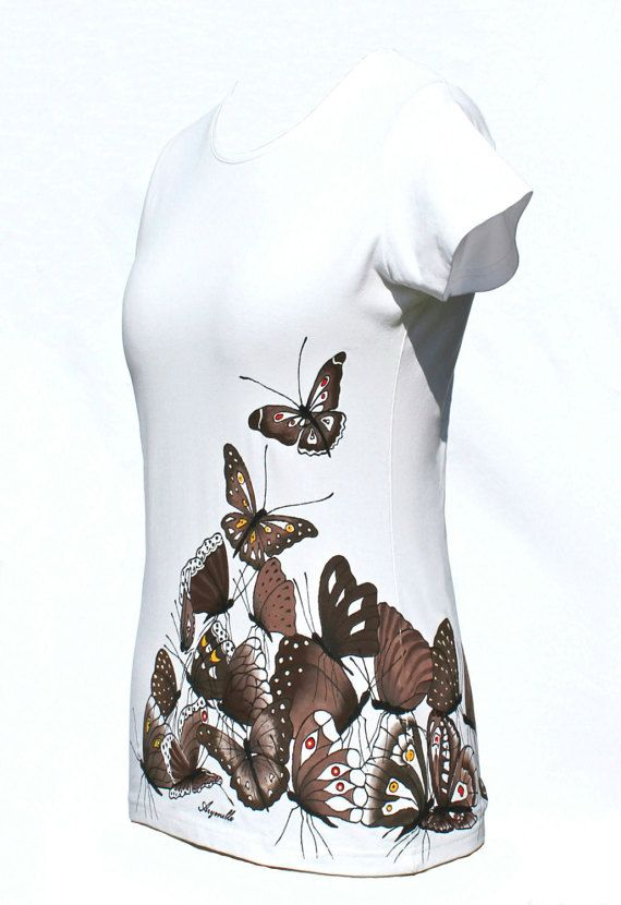 Hand painted T-shirt  Butterfly's party by Aryonelle on Etsy
