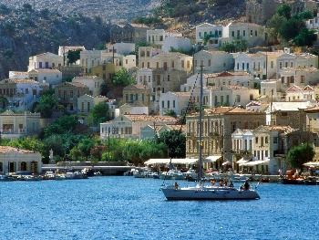 Harbor Town of Yialos, Island of Symi, Greece
