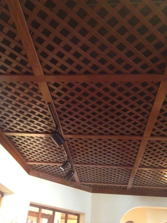 Cool ceiling treatment for basement | cheap basement ideas ...