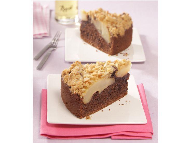 Mmmh, lecker, wir haben das Rezept für einen leckeren Schoko-Birnenkuchen mit Kardamom und Zimt-Streuseln. http://www.fuersie.de/kochen/backrezepte/artikel/rezept-schoko-birnenkuchen