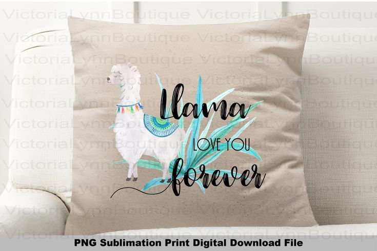Download Llama Love You Forever For Sublimation Printing Llama Png ...