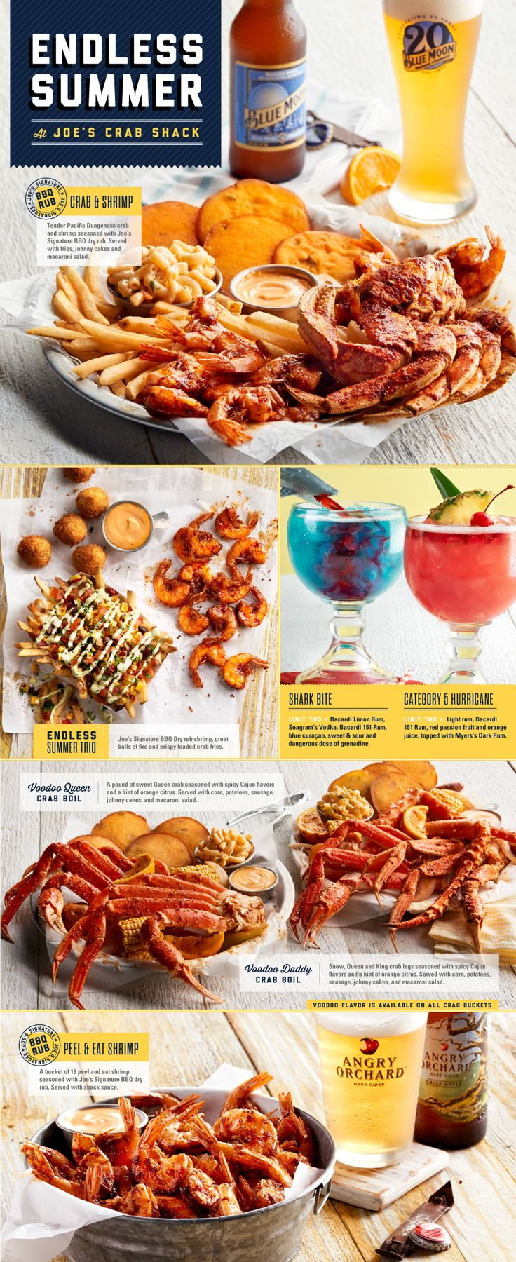 Joe's Crab Shack - Featured Menu