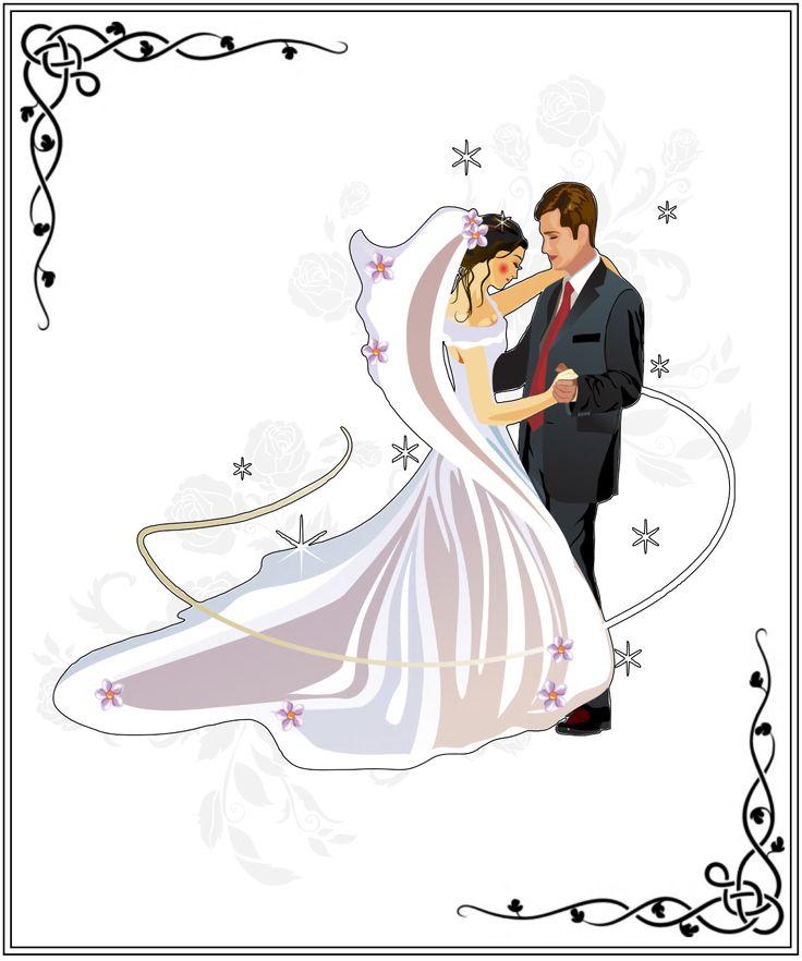 Рисунки на открытки к свадьбе