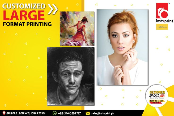 """Instaprint offers Large Format Printing :) Get your """"Frame"""" Customized with your favorite Photographs, Portraits, Painting, Name & Any other Image / Text of your choice! Make them unique and elegant with our custom printing services! http://www.instaprint.pk/corporate/large-formate-printing.html For Details Call: 0346-5000777 OR Chat Online: www.instaprint.pk"""