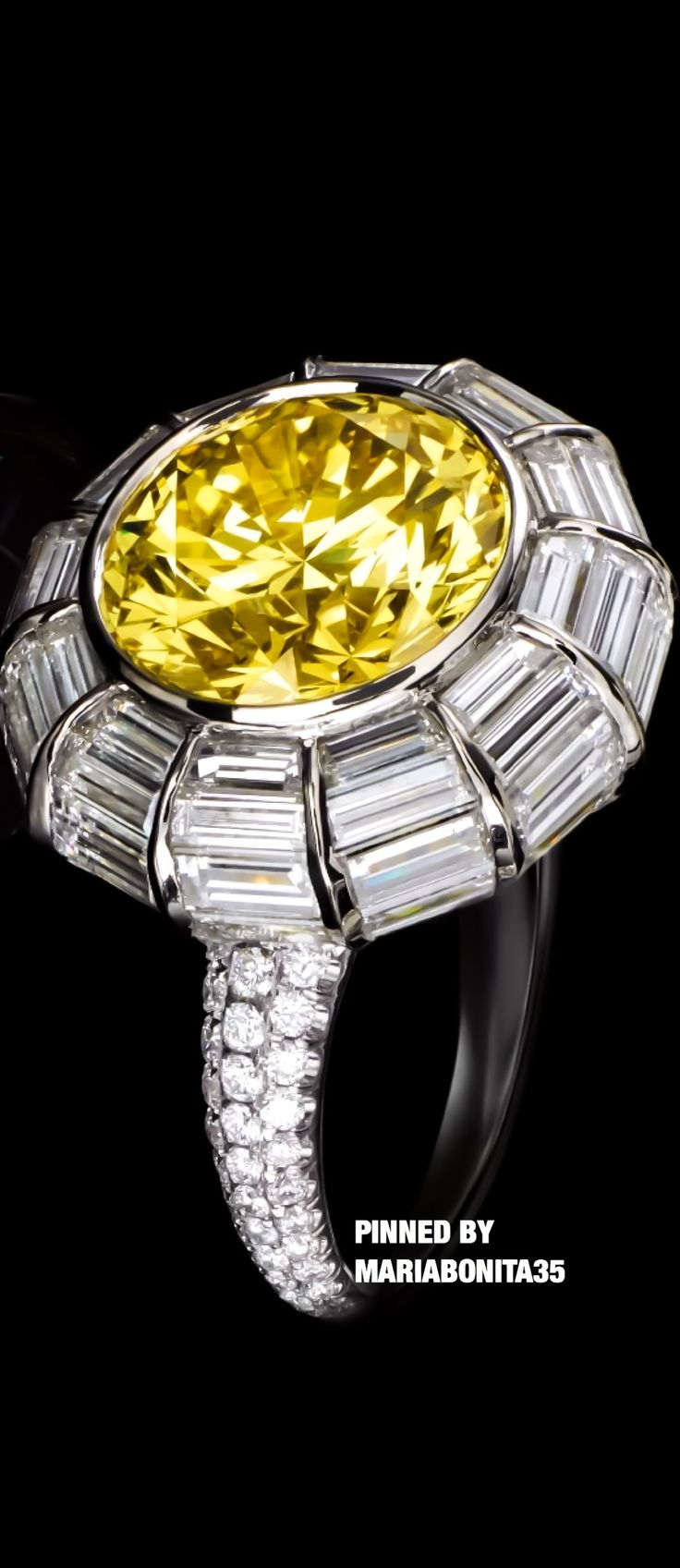 Tiffany & Co Vivid Yellow Diamond Ring