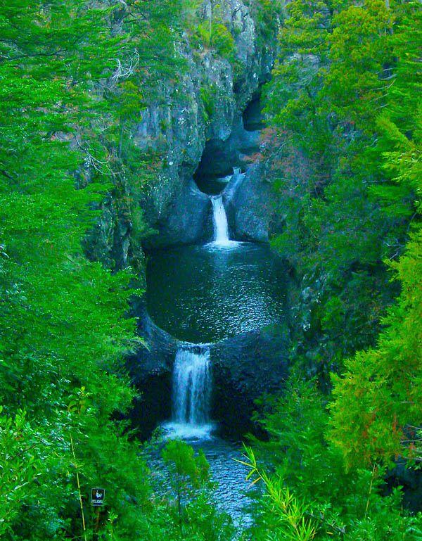 National Park Radal Siete Tazas (200km south of Santiago)
