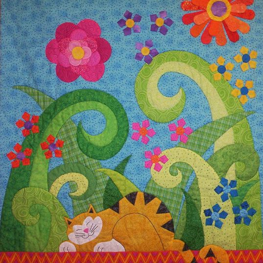 Kitty Quilt=Wonderful ideas.  I am going to do a cat quilt similar to this one.