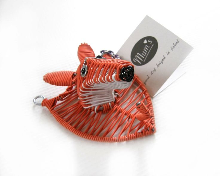 Designed in Finland by MUM's. Handmade fairly by artisans in Africa. http://mums.fi/products/mums-living/fox-wallhook/