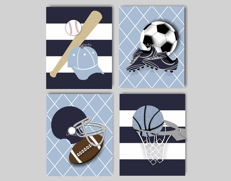 Sports Nursery Decor Sports Bedding Decor Football Nursery Art Baseball Nursery Art Basketball Nursery Art Soccer Art Choose Colors SP1914 by inkspotsgallery on Etsy https://www.etsy.com/listing/170578311/sports-nursery-decor-sports-bedding