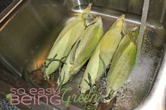 Grilled Corn on the Cob {in Husk}