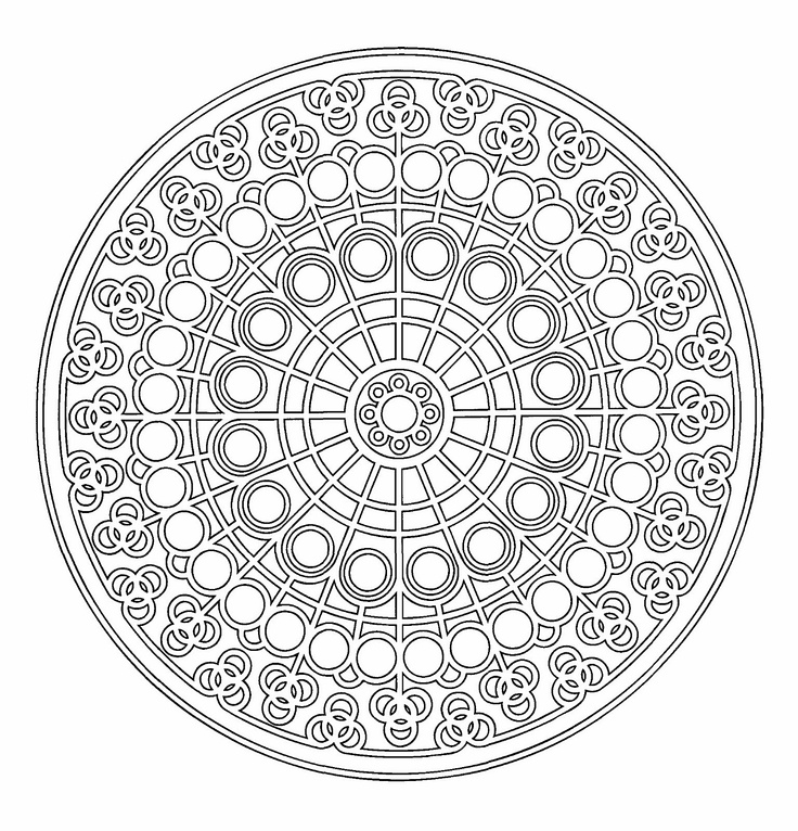 7 Best MANDALAS To Color Round Images On Pinterest