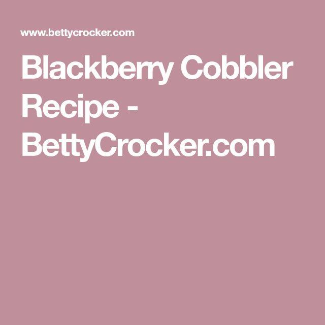 Blackberry Cobbler Recipe - BettyCrocker.com