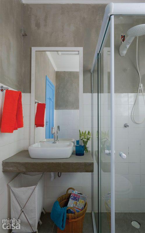 25 melhores ideias de banheiro simples e barato no - Pintura especial para azulejos ...