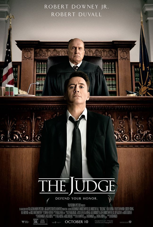 "NEW poster for ""The Judge,"" starring Robert Downey Jr. and Robert Duvall.  This was a sleeper I hadn't heard of until scanning On Demand movies recently.  I had to add it to my home DVD collection."