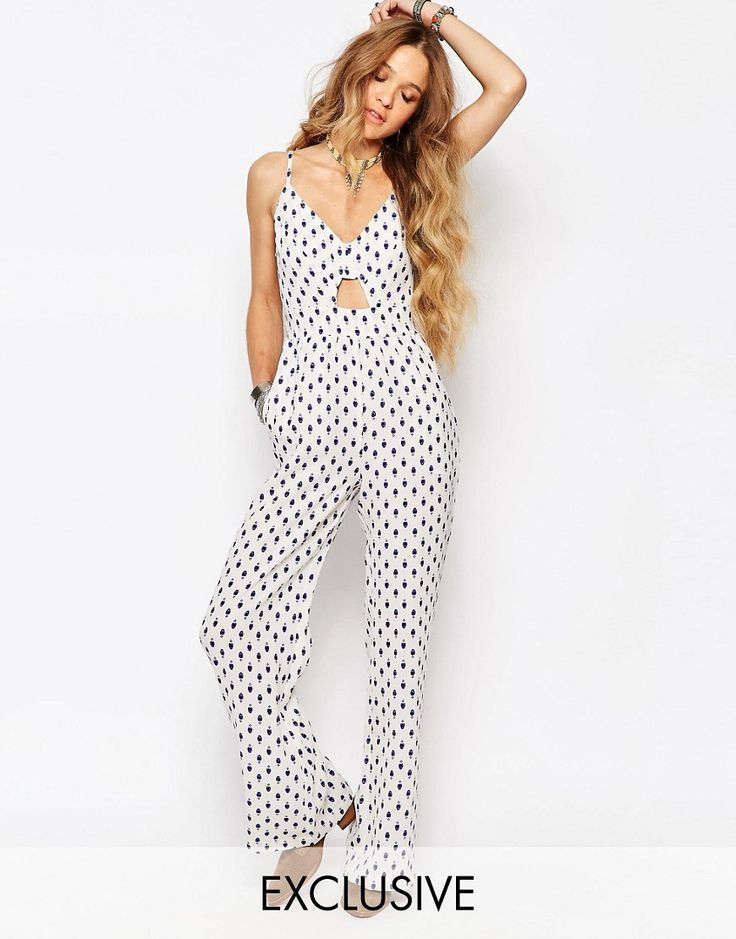 Image 1 ofGlamorous Festival Jumpsuit With Cutout Detail
