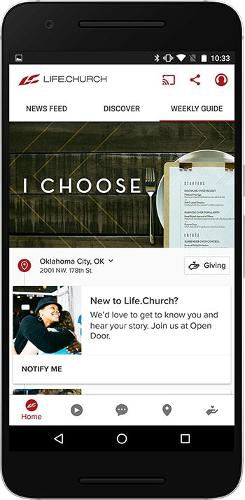 Life.Church   With the Life.Church app, you can stream or download