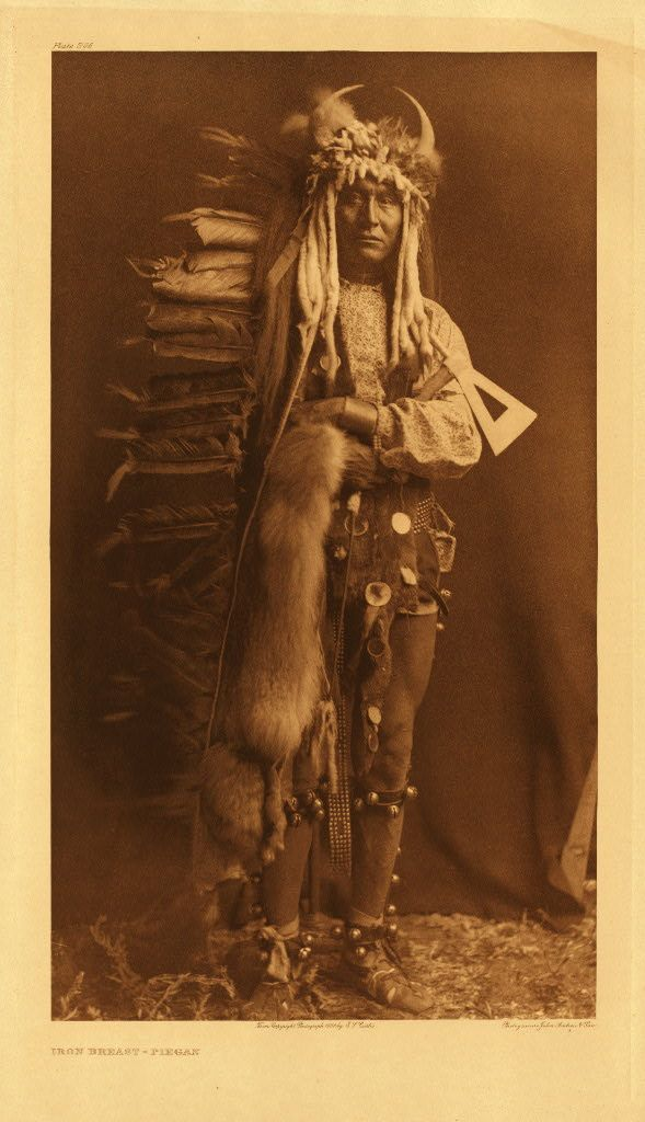 Iron Breast - Piegan: Edward Curtis, American Indian, Irons Breast, Fulllength Portraits, Nativeamerican, 1900, Photo, First National, Native American