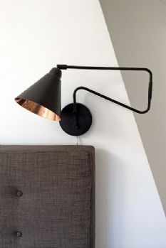 industrial style brown and copper wall light - Wall Lamps For Bedroom