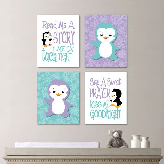 Hey, I found this really awesome Etsy listing at https://www.etsy.com/listing/200598773/baby-girl-nursery-art-penguin-nursery