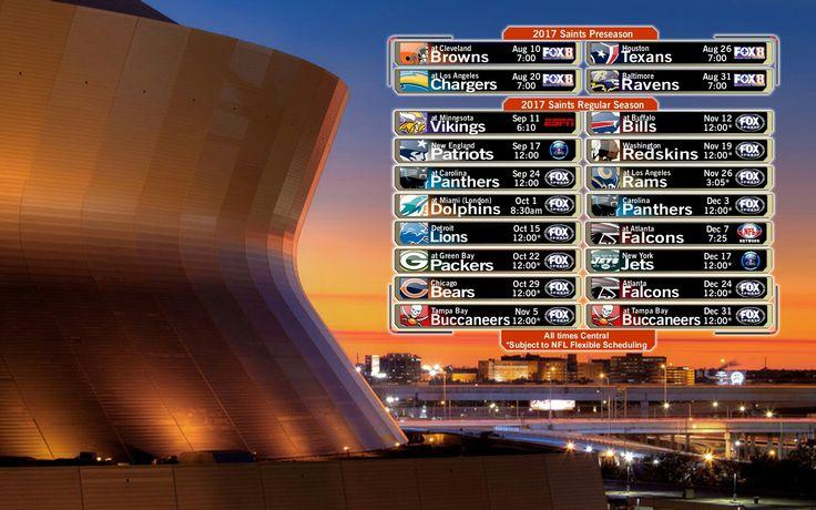 2017 New Orleans Saints Football Schedule