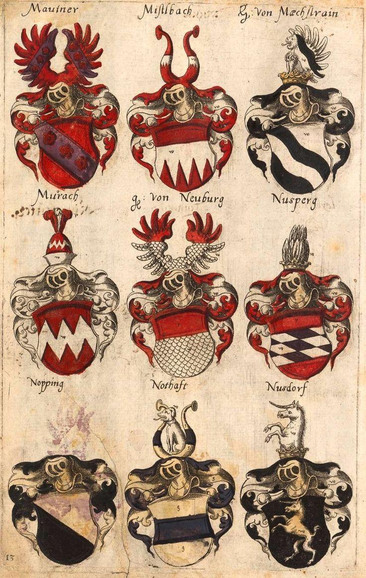«Sammlung von Wappen aus verschiedenen, besonders deutschen Ländern», [S.l.] Deutschland, um 1600 [BSB-Hss Cod.icon. 307] -- Bildnr.4