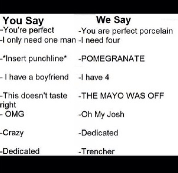 I always say what trenchers say and oh hahahah