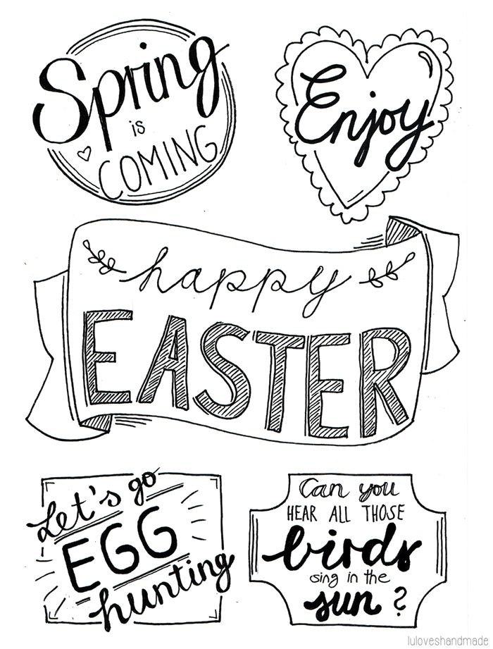 Luloveshandmade: DIY: Easter Handlettering and Free Printable
