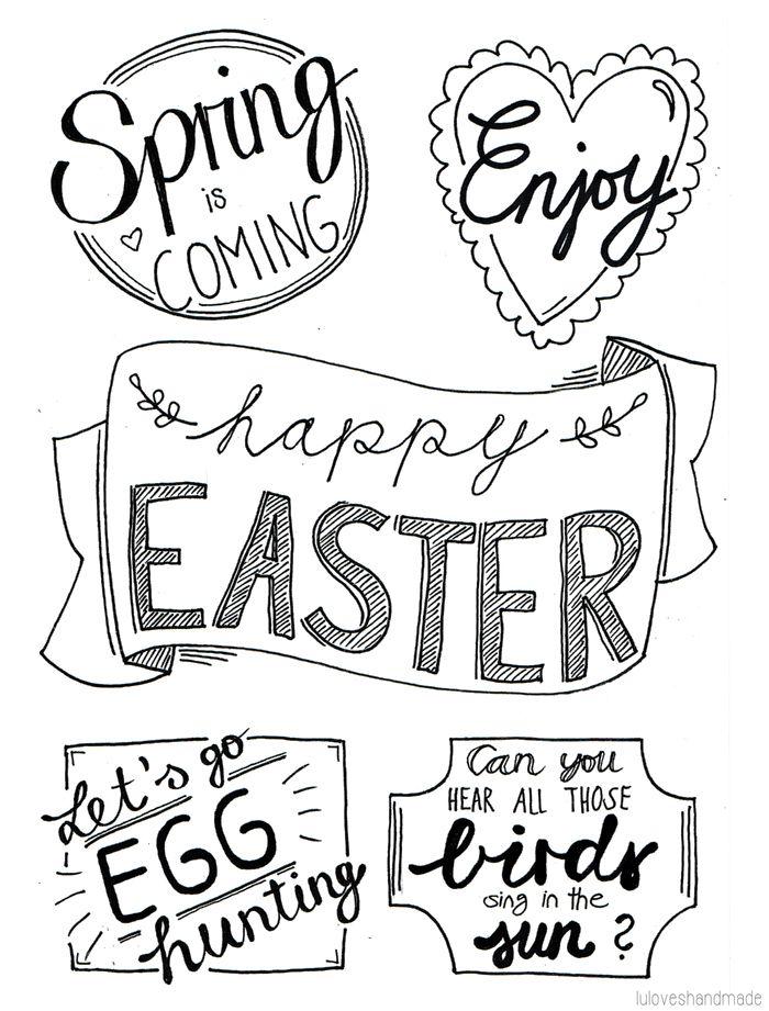 Luloveshandmade: DIY: Easter Handlettering and Free Printable ❥