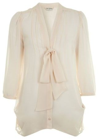 Miss Selfridge pussybow blouse, £35  You can never have too many blouses in your work wardrobe. Stock up at Miss Selfridge with