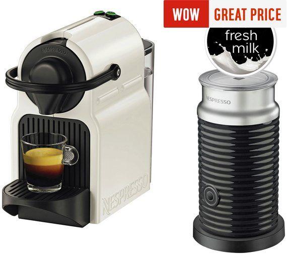 Nespresso Inissia Aeroccino 3 Coffee Machine White