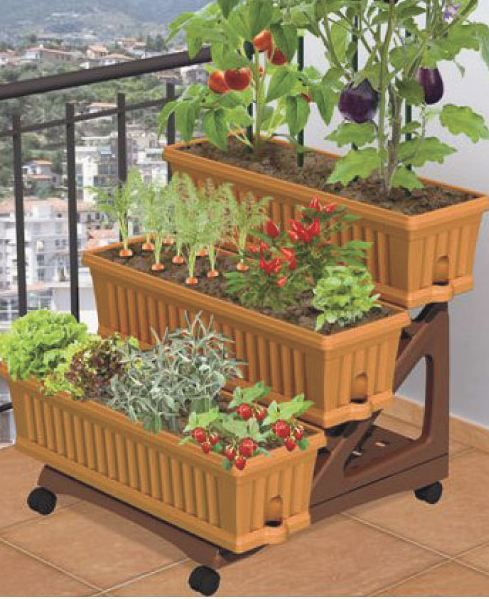 Patio garden neat for apartment patio gardening - Gifts for small apartments ...