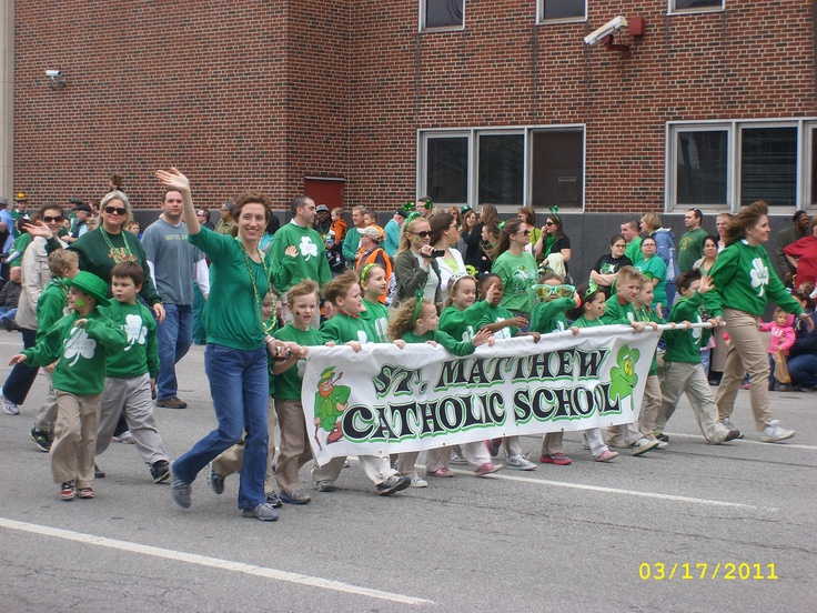St. Matthew Catholic School : St. Patricks Day Parade, Indianapolis, Indiana.  March 2011