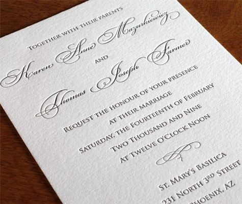 Our invitation gallery is full of formal wedding invitations for you to peruse.
