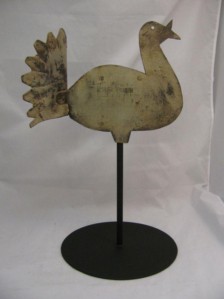 Antique Folk Art Turkey Weathervane