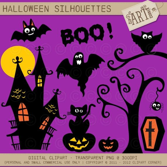Halloween Silhouettes   Luvly Marketplace | Premium Design Resources # Halloween #clipart