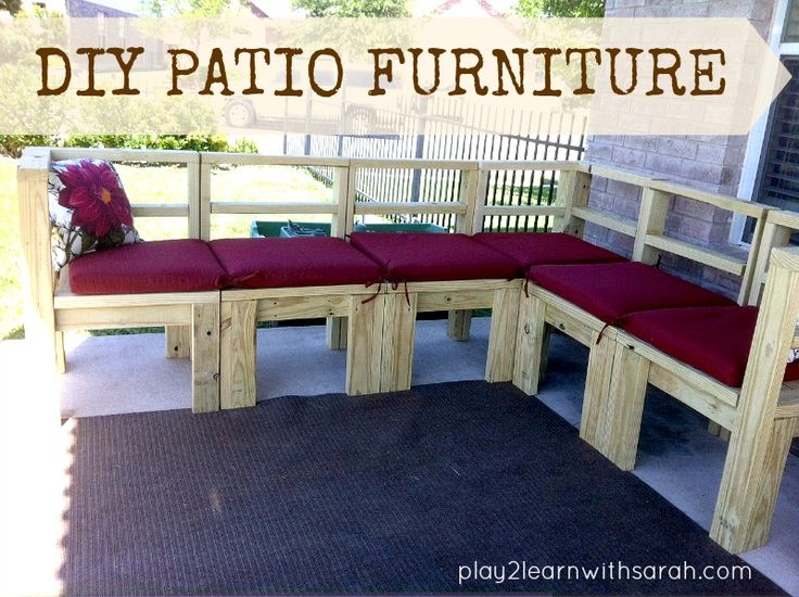 diy furniture build your own outdoor seating