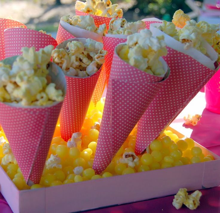 sweet 16 decorations  | For the popcorn cones , I got the idea from this blog as well as the ...