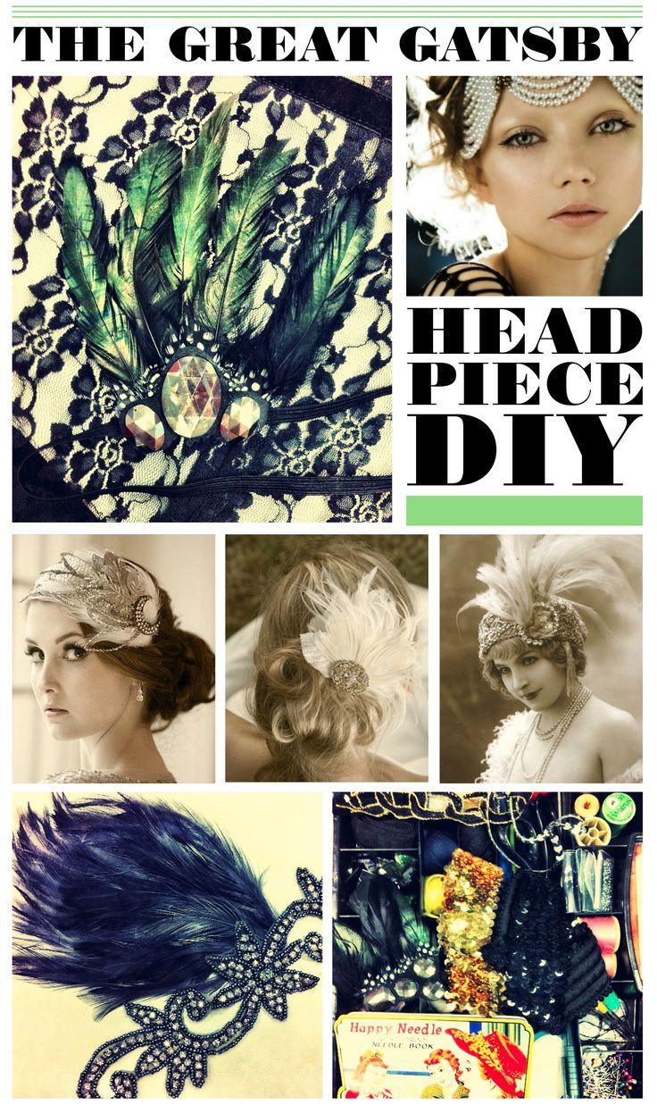 The Great Gatsby DIY head piece