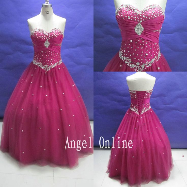 ball gown prom dresses.homecoming dresses.long prom dresses.prom dresses 2015.plus size prom dresses.fuchsia prom dress.vintage prom dresses by Angelonlinedress on Etsy