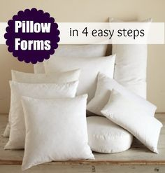 Learn how to create pillow form inserts in 4 easy steps. Includes pillow form standard sizes printable sheet. The Sewing Loft