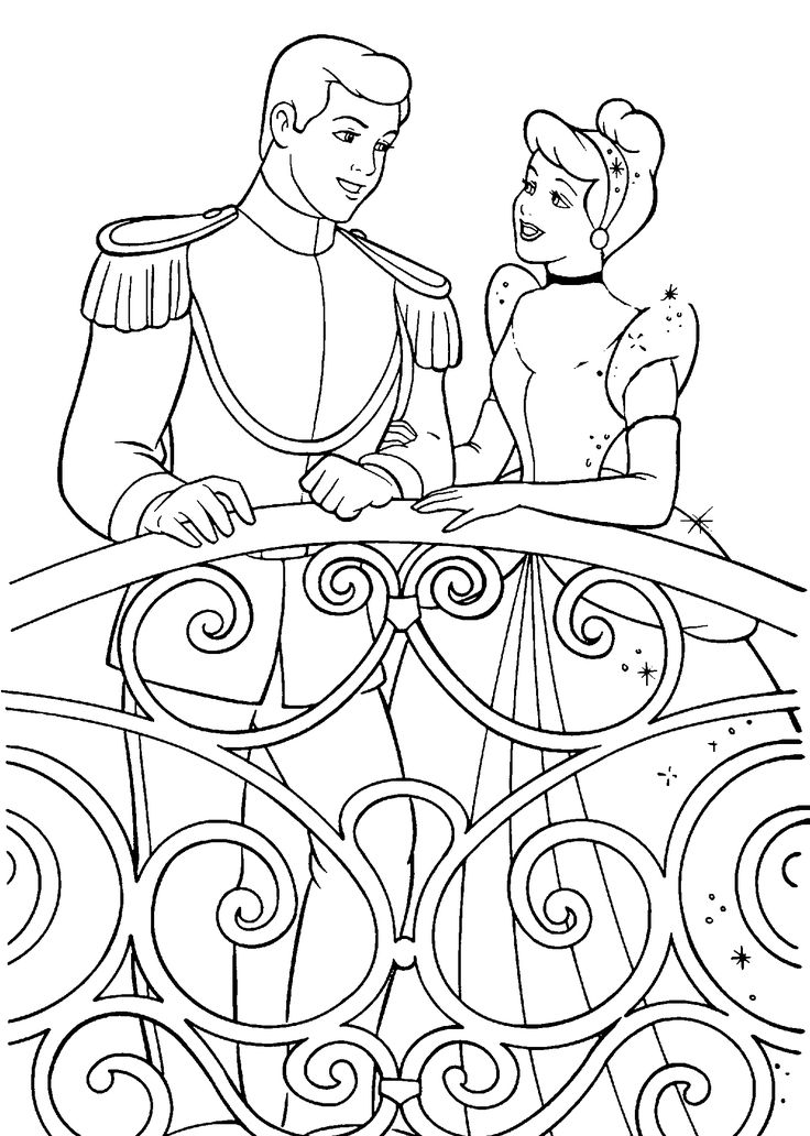Cinderella Coloring Pages For Kids Printable Free