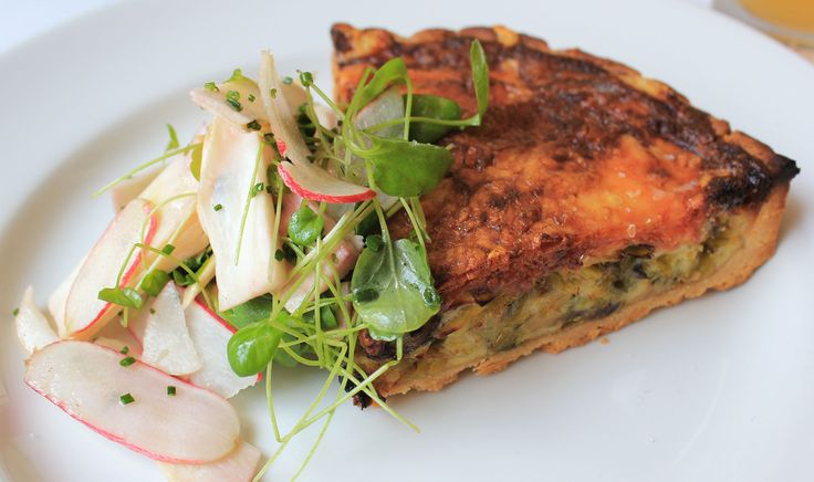 Roasted Mushroom, Leek & Fontina #Quiche  from The Clam in #NewYorkCity – read my #Brunch review on #erinontherun #blog