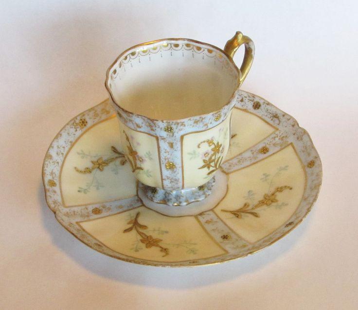 Antique Martial Redon Limoges Demitasse and Saucer via via http://MyClassicJewelry.com/shop